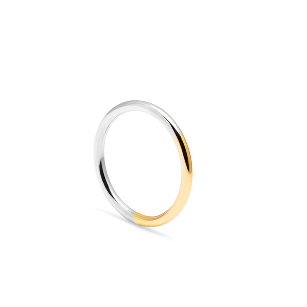 Golden Ratio Band - 9k Yellow Gold & Silver