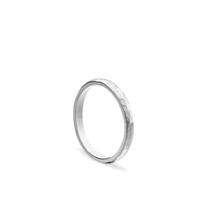 Classic Hammered Band - Silver - Myia Bonner Jewellery