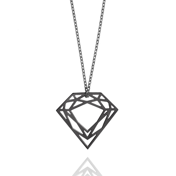 Classic Diamond Necklace - Black - Myia Bonner Jewellery