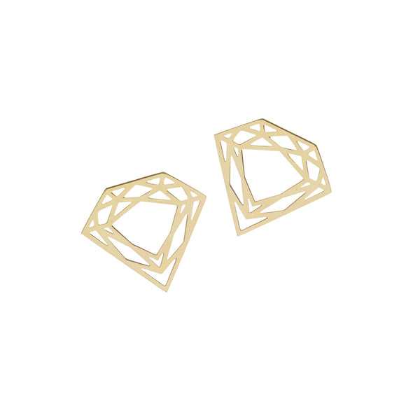 Classic Diamond Stud Earrings - Gold - Myia Bonner Jewellery