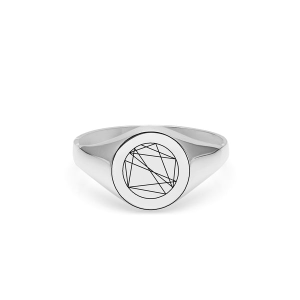 Natal Signet Ring - Silver - Myia Bonner Jewellery