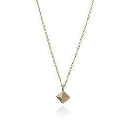 Mini Octahedron Necklace - Gold - Myia Bonner Jewellery