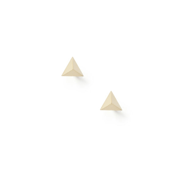 Tetrahedron Stud Earrings - Gold - Myia Bonner Jewellery
