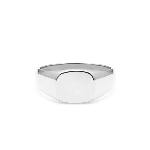 Cushion Signet Ring - Silver - Myia Bonner Jewellery