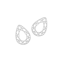 Pear Diamond Stud Earrings - Silver - Myia Bonner Jewellery