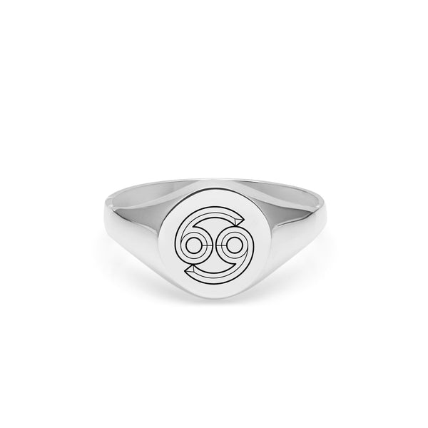 Cancer Signet Ring - Silver - Myia Bonner Jewellery