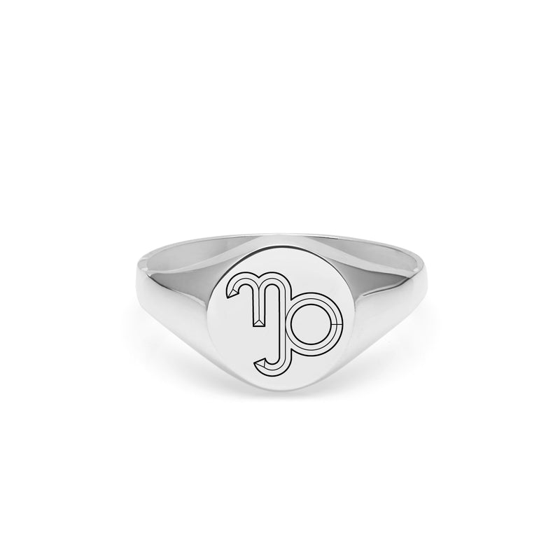 Capricorn Signet Ring - Silver - Myia Bonner Jewellery