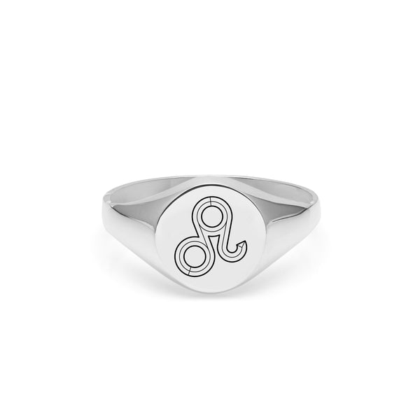 Leo Signet Ring - Silver - Myia Bonner Jewellery