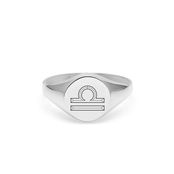 Libra Signet Ring - Silver - Myia Bonner Jewellery