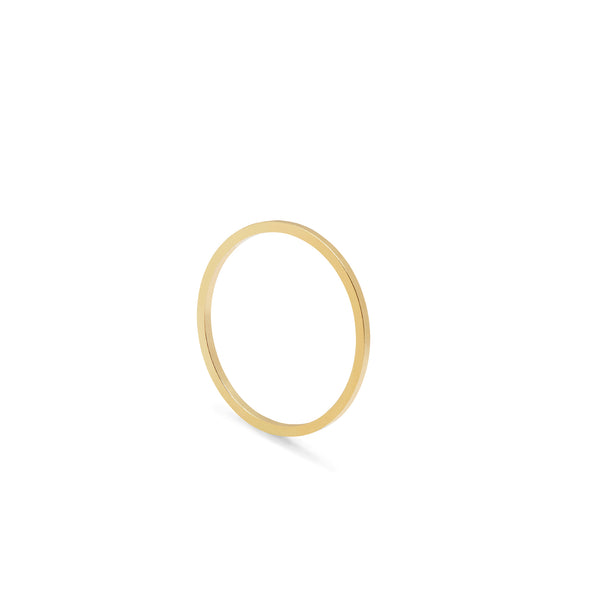 Ultra Skinny Square Stacking Ring - 9k Yellow Gold - Myia Bonner Jewellery