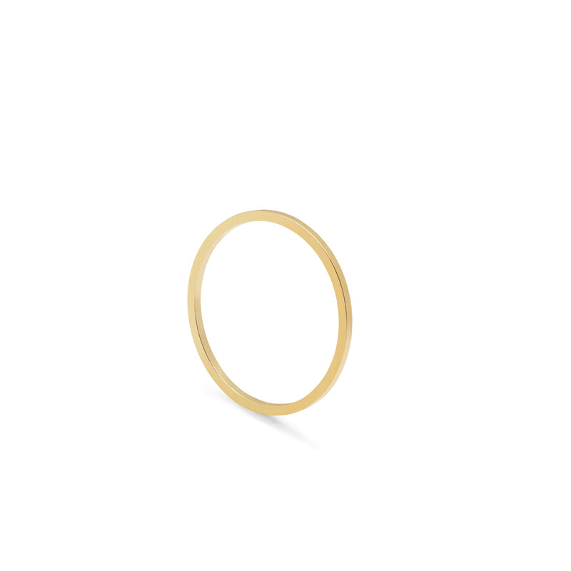 Ultra Skinny Square Stacking Ring - Gold - Myia Bonner Jewellery