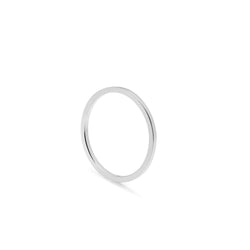 Skinny Square Stacking Ring - Silver - Myia Bonner Jewellery