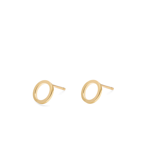 Mini Circle Earrings - Gold - Myia Bonner Jewellery