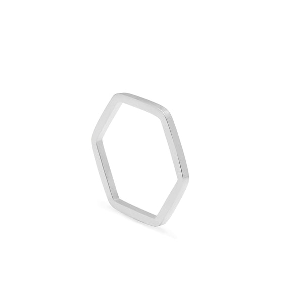 Hexagon Ring - Silver