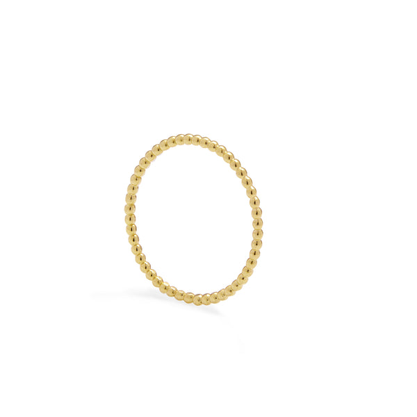 Skinny Ball Stacking Ring - Gold - Myia Bonner Jewellery