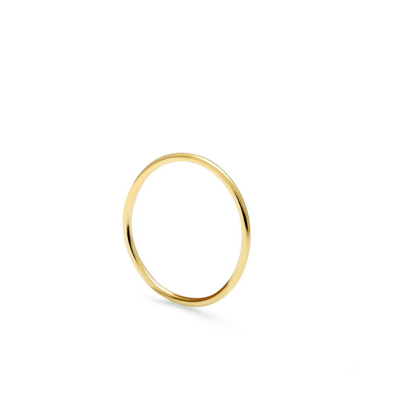 Skinny Round Stacking Ring - Gold - Myia Bonner Jewellery