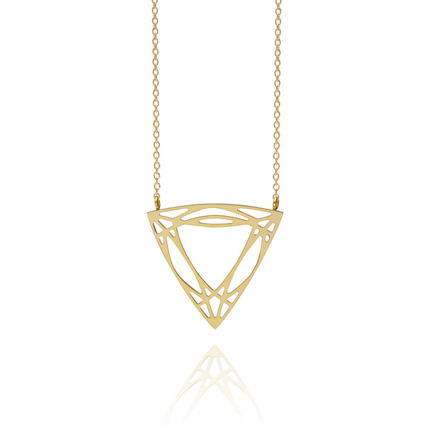 Trillion Diamond Necklace - Gold - Myia Bonner Jewellery