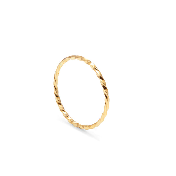 Skinny Twist Ring - Gold - Myia Bonner Jewellery