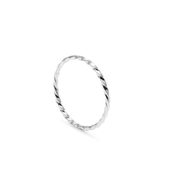 Skinny Twist Ring - 18k White Gold - Myia Bonner Jewellery
