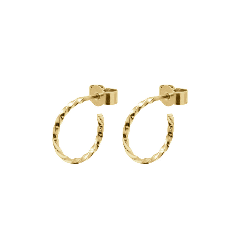Mini Twist Hoop Earrings - Gold - Myia Bonner Jewellery