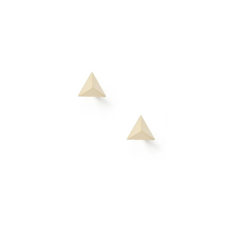 Tetrahedron Stud Earrings - 9k Yellow Gold - Myia Bonner Jewellery