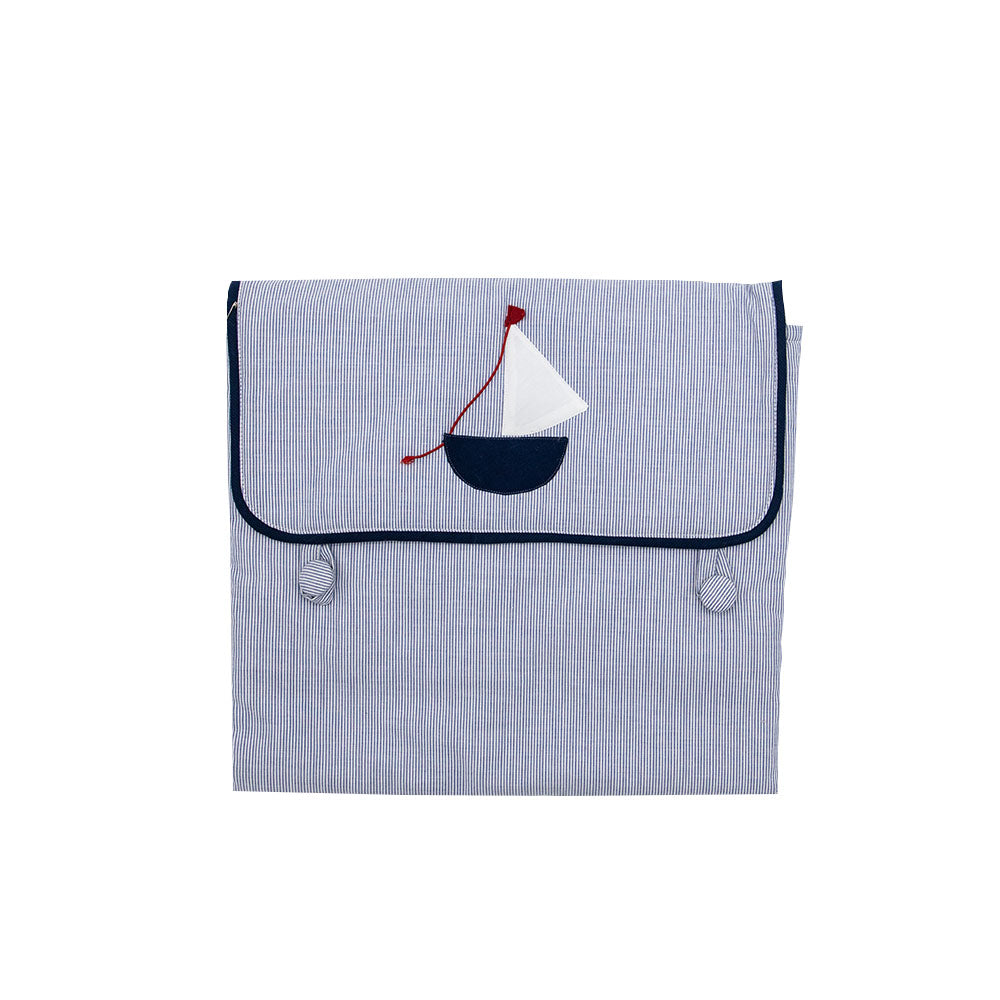 Cotton & Sponge Hand Sewn Foldable Travel Changing Pad Linen