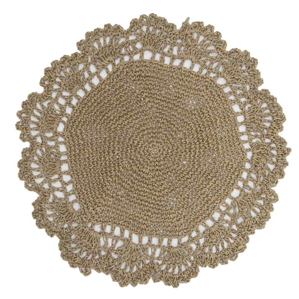 Cord Handmade Round Placemat