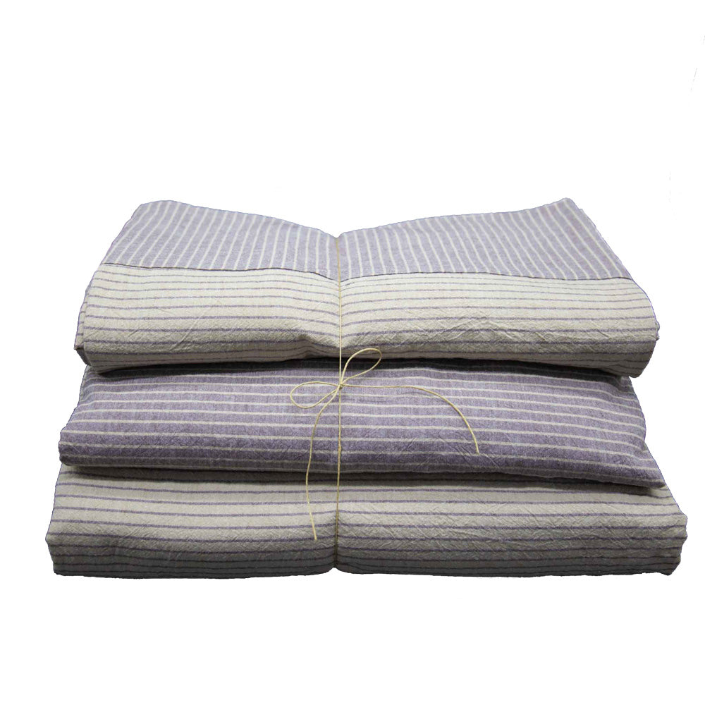Linen Handmade Bedding Set Striped
