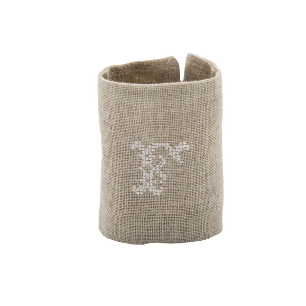 Linen Handmade Napkin Holder with Custom Monogram Option