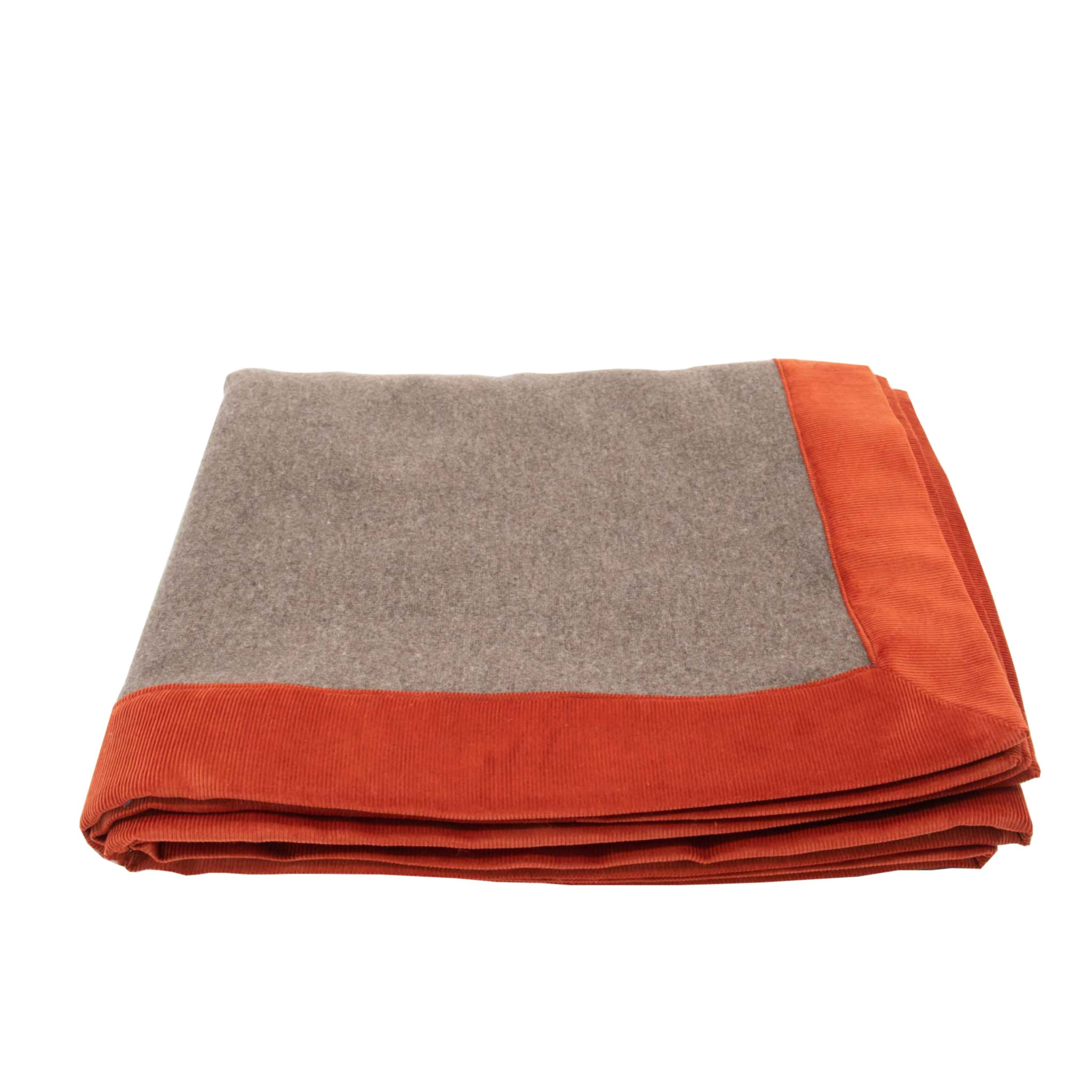 Wool Blanket with Corduroy Profile