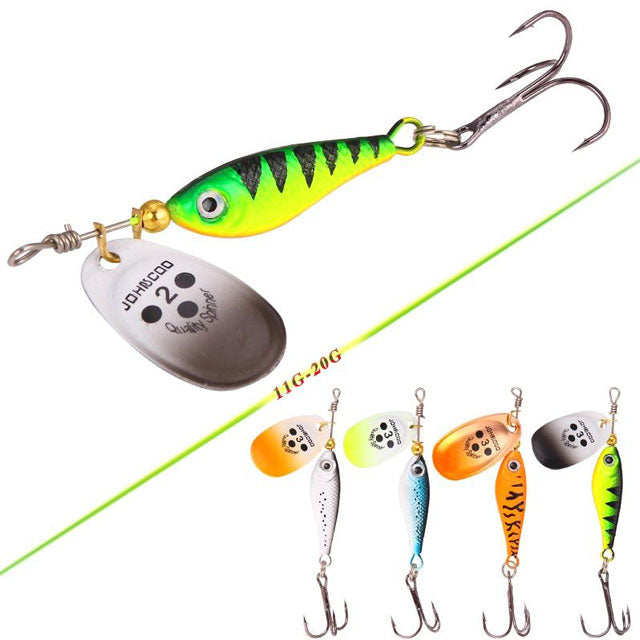 Artificial Carp Spinner Fishing Lures With Treble Hook