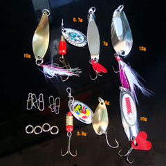 Saltwater Tackle Hooks Bright Colors Fishing Lures Kit