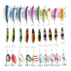 30Pcs Blade Fish Bait Cheap Tackle Fishing Lure Set