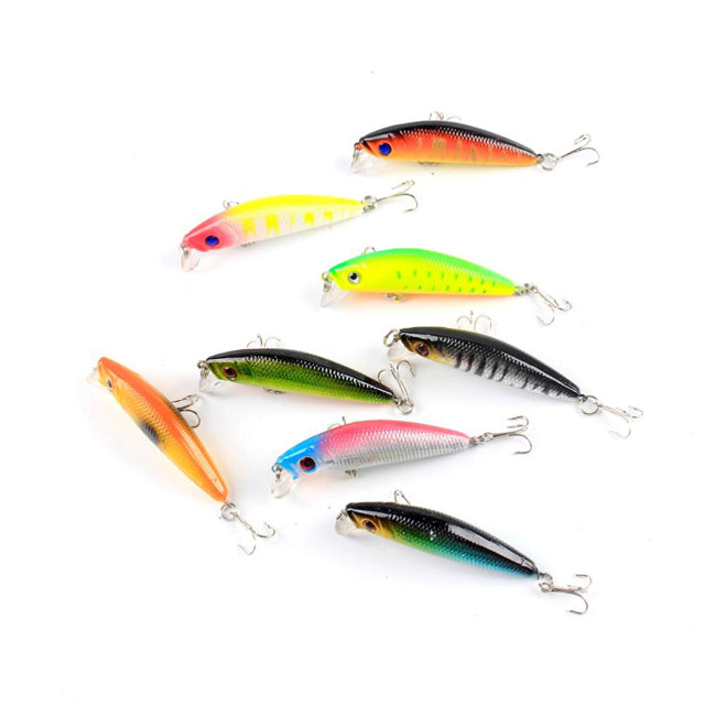 Colorful Stripe Pattern Bass Fishing Lures