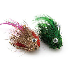 Eyes Feather Tail Big Hook Flying Fishing Lure