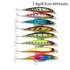 43pcs Mixed Crankbait Fishing Lure Set