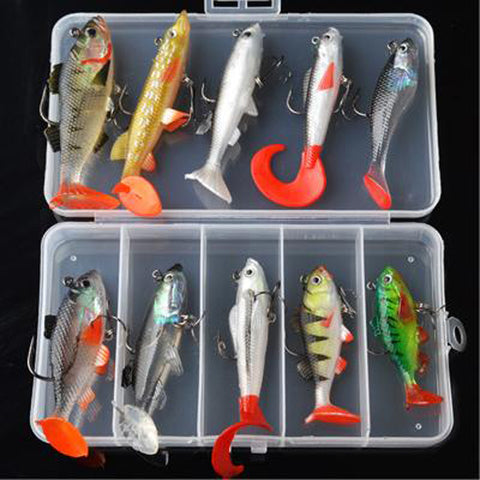 18g 14g 13g 9g 8g Wobblers Artificial Bait Silicone Fishing Lures Soft Lure Kit Set