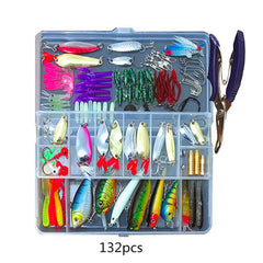 73-101-132-232Pcs Mixed Minnow Piler Spoon Hooks Fishing Lures Set