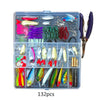 Image of 73-101-132-232Pcs Mixed Minnow Piler Spoon Hooks Fishing Lures Set