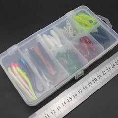 50pcs 6cm 7cm Soft Bait Tackle Wobbler Jigging Fishing Lure Bundle
