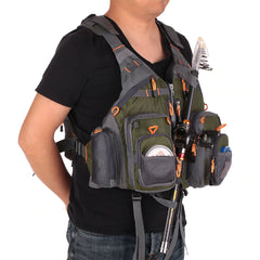 Fishing Vest Adjustable Multi Pocket Outdoor