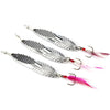 Image of Metal Sequins Fishing Spoon Lure with Feather Noise Paillette