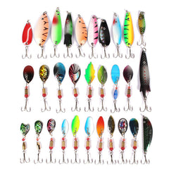 Mixed Metal Spoon Lures Hard Bait Fishing Tackle