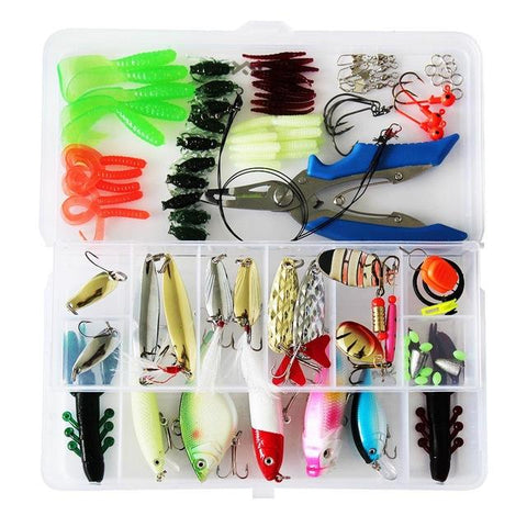 73/100/101/106/132pcs Artificial Fishing Lure Kit