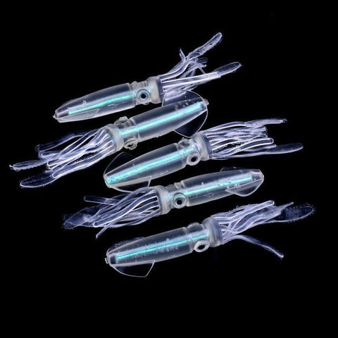 Squid Jigs Silicone Fishing Lure Set