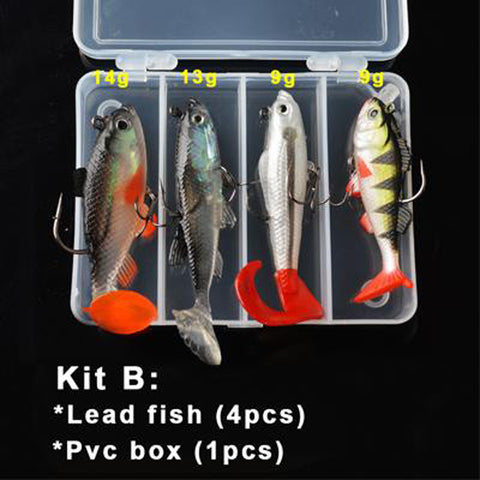 Silicone Fishing Lures Soft Lure Kit Set