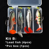 Image of Silicone Fishing Lures Soft Lure Kit Set