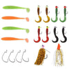 Image of Sinking Lures Jigs Curl T-Tail Soft Crappie Fishing Lures