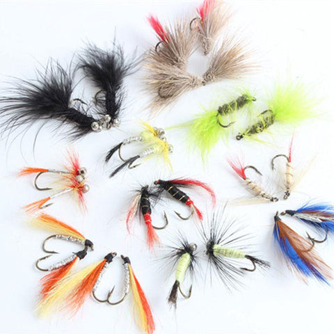 12pc/pack Spoon Fly Fishing Bait