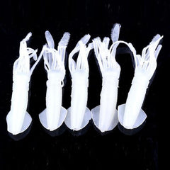 5pcs Squid Jigs Silicone Fishing Lure Set